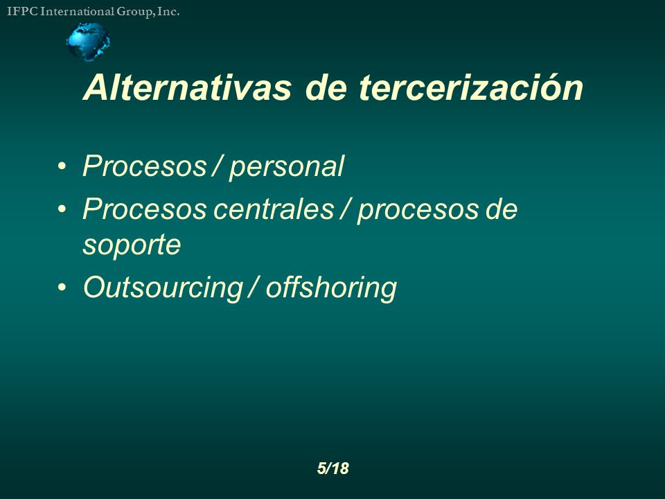 Alternativas de tercerización