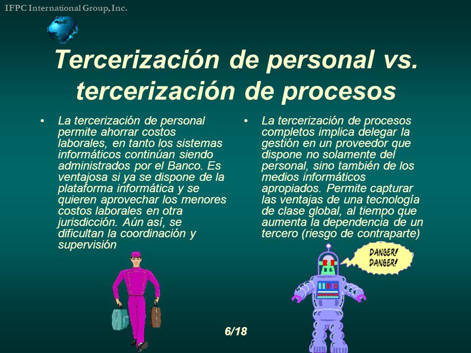 Tercerización de personal vs. tercerización de procesos