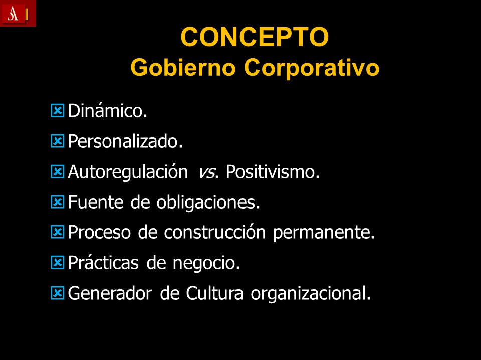 CONCEPTO Gobierno Corporativo