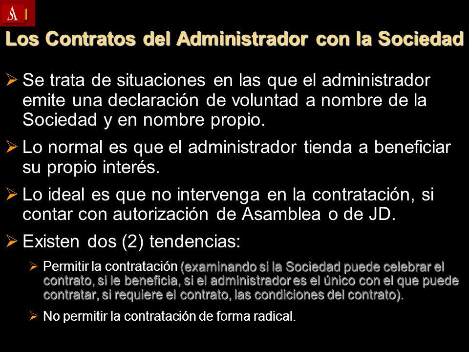 Los Contratos del Administrador con la Sociedad