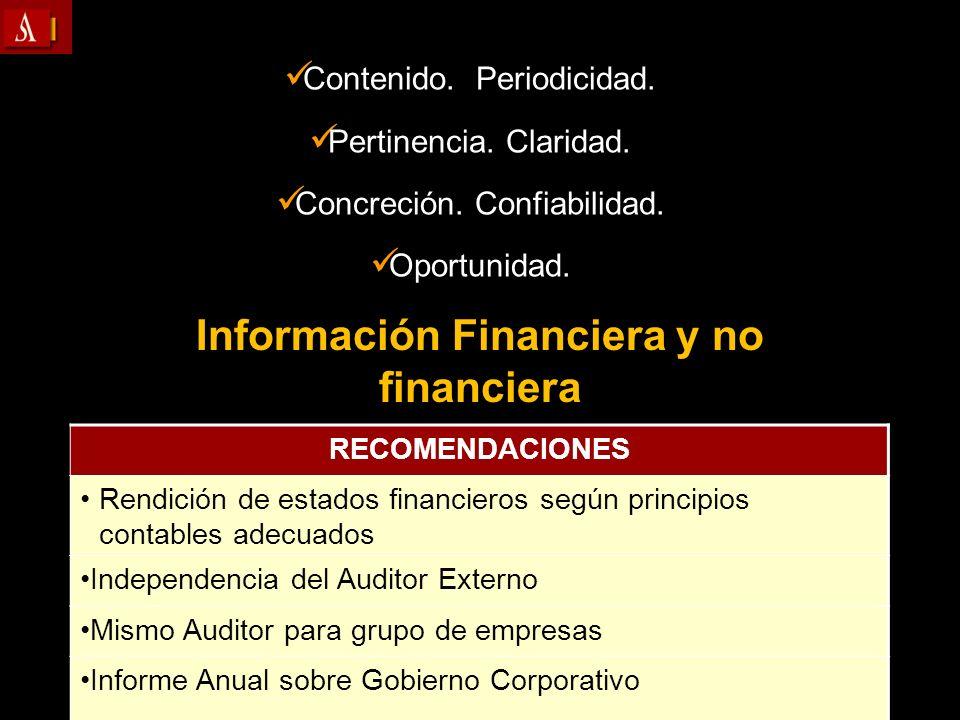 Información Financiera y no financiera
