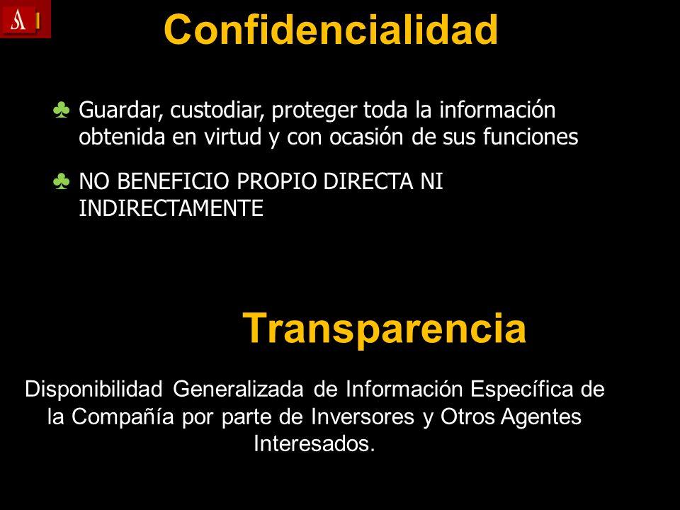 Confidencialidad Transparencia