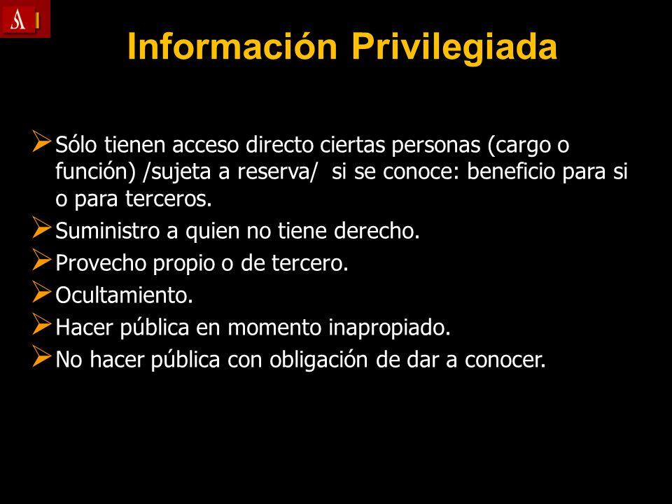 Información Privilegiada