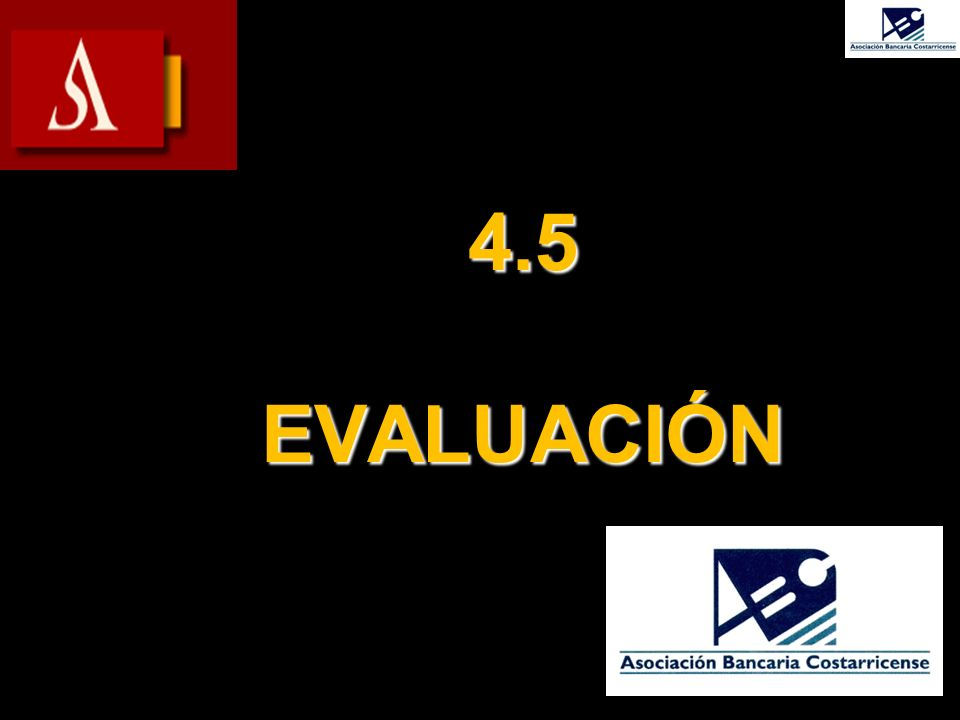 4.5 EVALUACIÓN