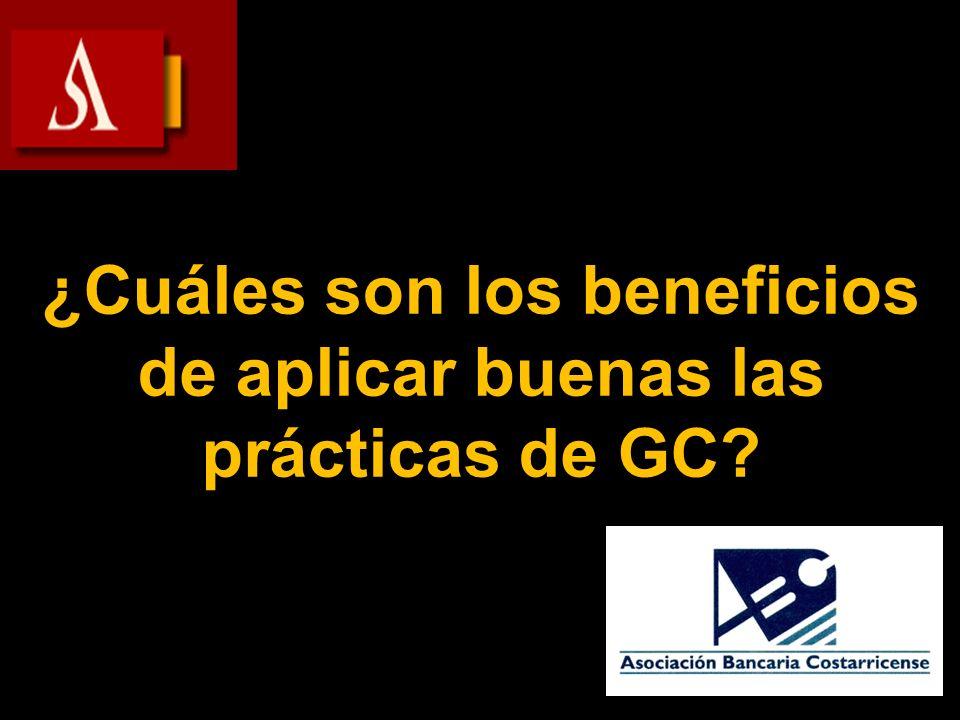 ¿Cuáles son los beneficios de aplicar buenas las prácticas de GC