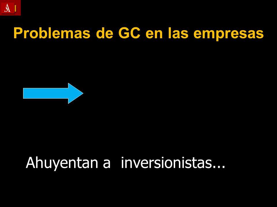 Problemas de GC en las empresas