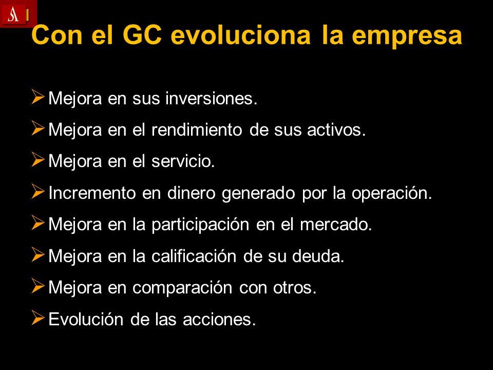 Con el GC evoluciona la empresa