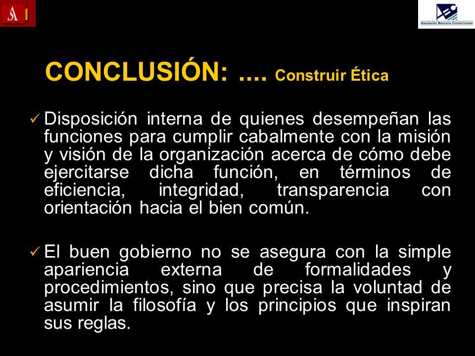 CONCLUSIÓN: .... Construir Ética