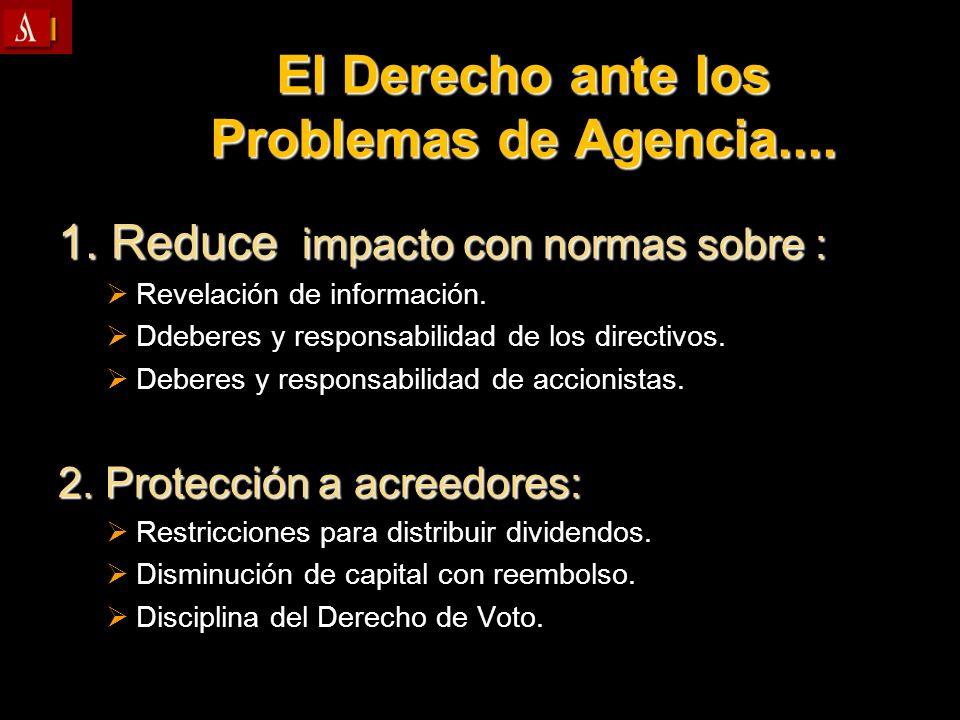 El Derecho ante los Problemas de Agencia....