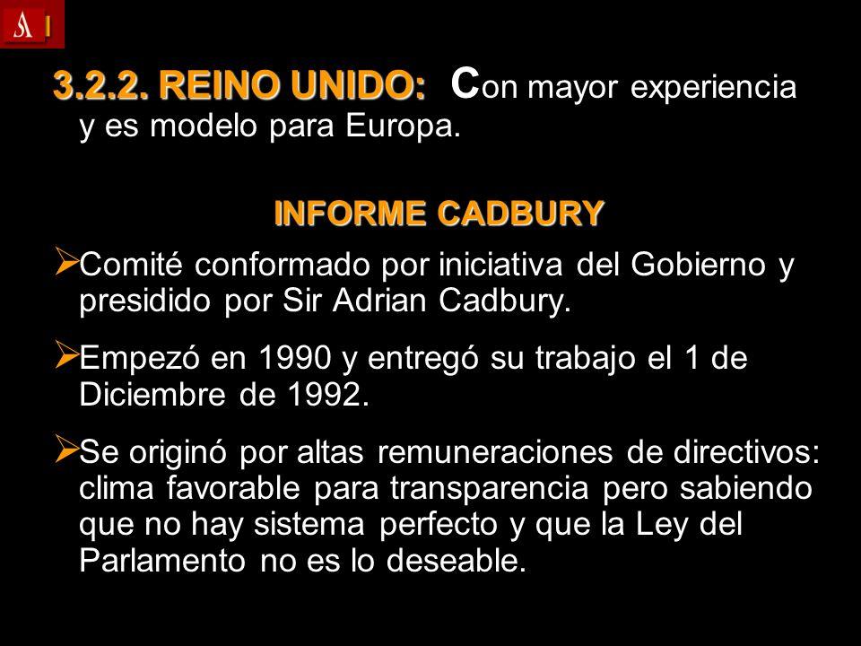 3.2.2. REINO UNIDO: Con mayor experiencia y es modelo para Europa.
