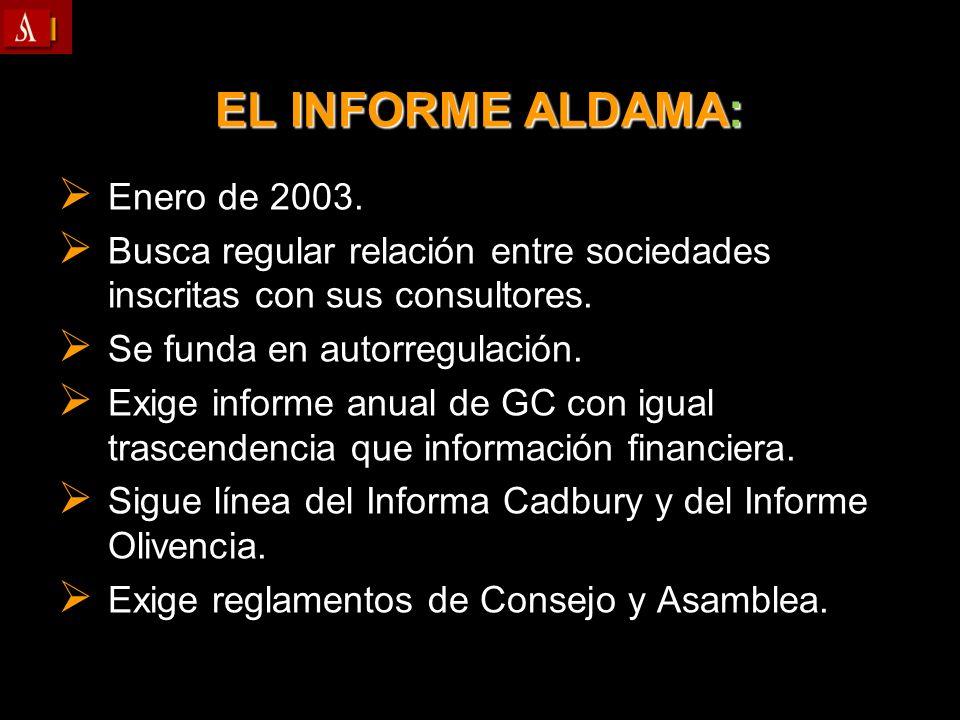 EL INFORME ALDAMA: Enero de 2003.