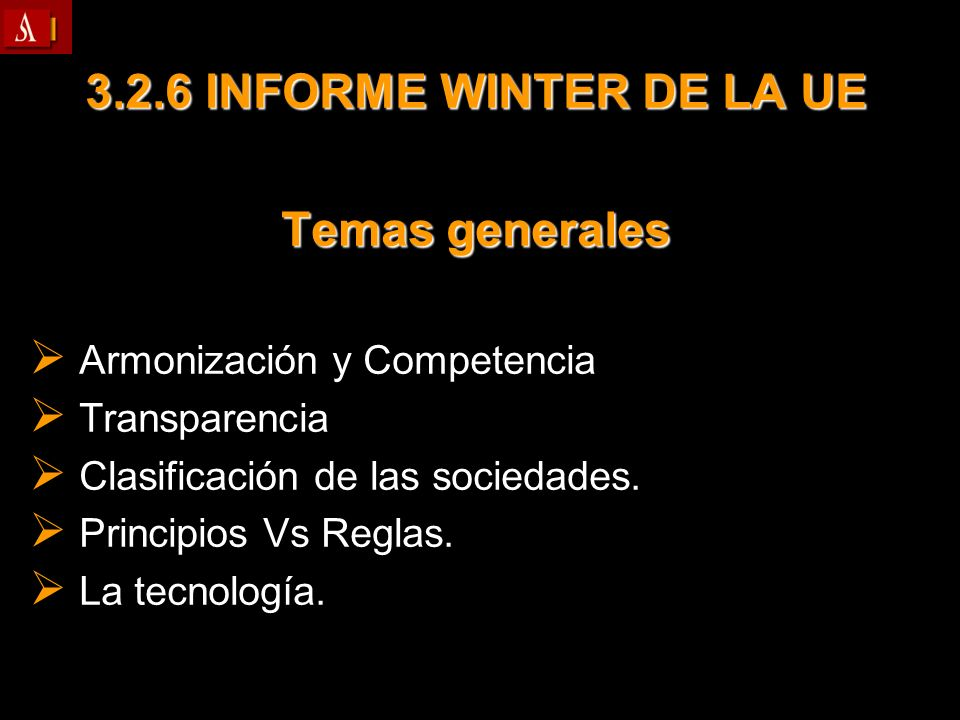 3.2.6 INFORME WINTER DE LA UE Temas generales