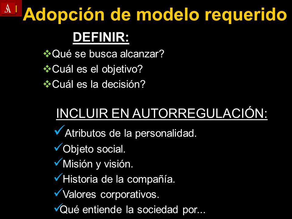Adopción de modelo requerido