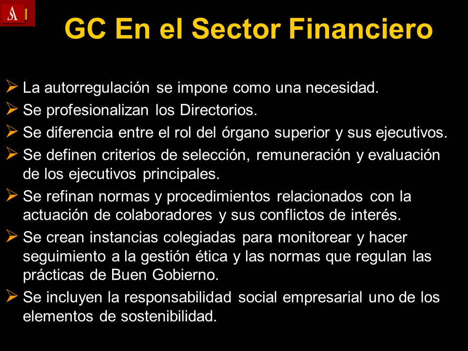 GC En el Sector Financiero