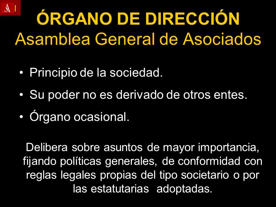 ÓRGANO DE DIRECCIÓN Asamblea General de Asociados