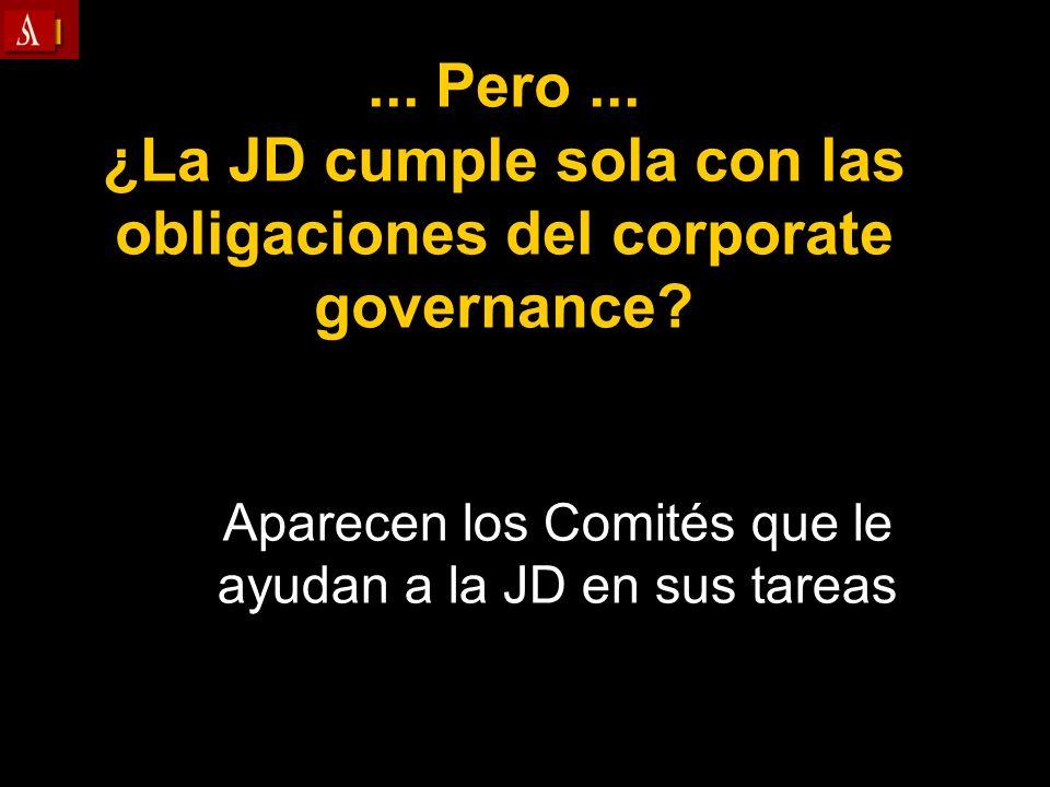 Aparecen los Comités que le ayudan a la JD en sus tareas