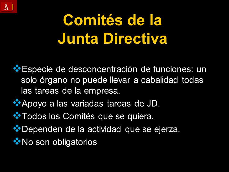 Comités de la Junta Directiva