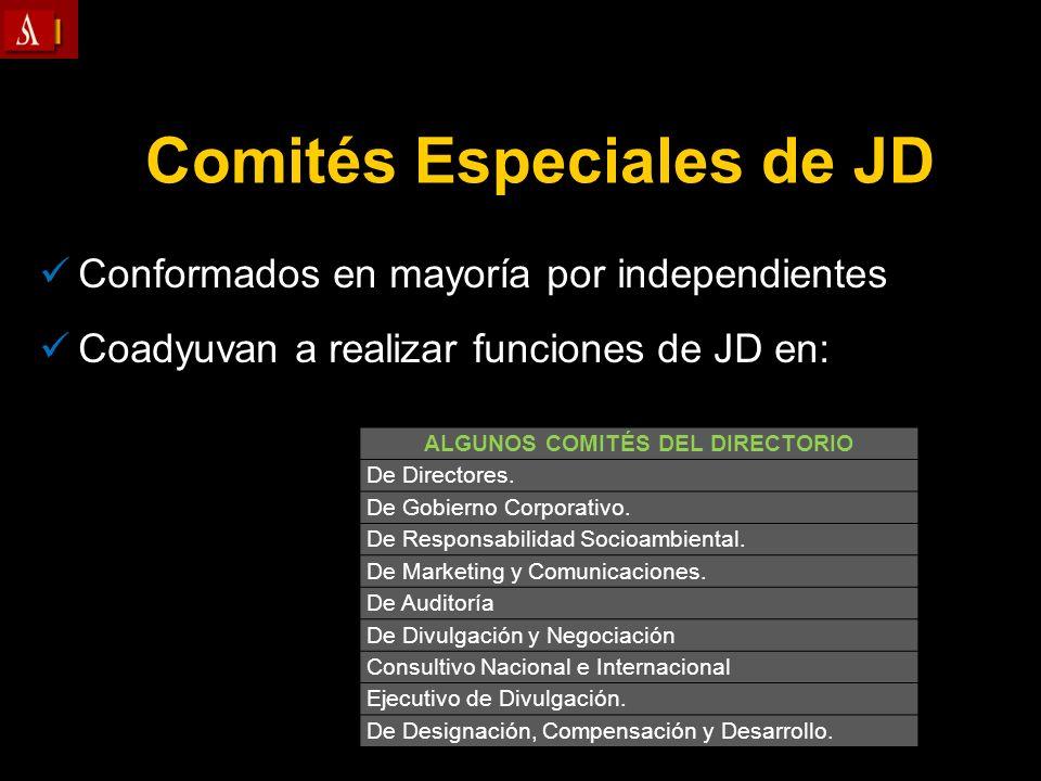 Comités Especiales de JD ALGUNOS COMITÉS DEL DIRECTORIO
