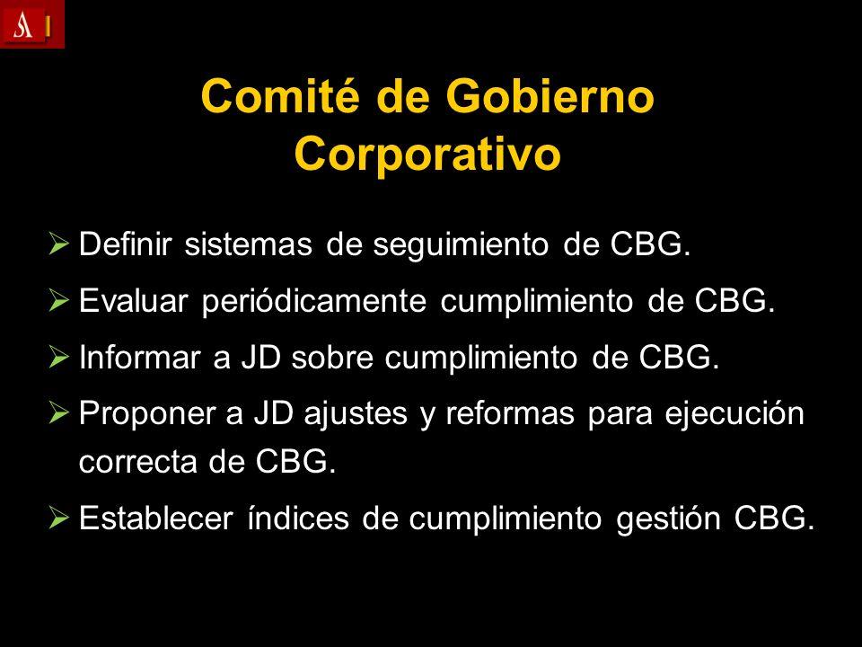Comité de Gobierno Corporativo