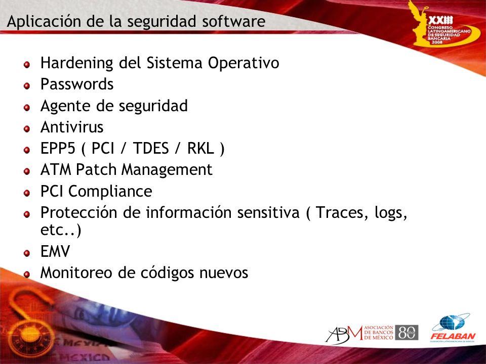 Aplicación de la seguridad software