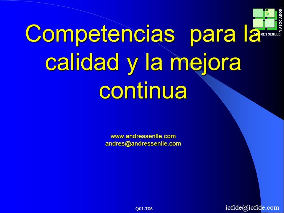 Competencias para la calidad y la mejora continua www. andressenlle