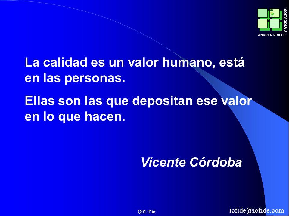 La calidad es un valor humano, está en las personas.