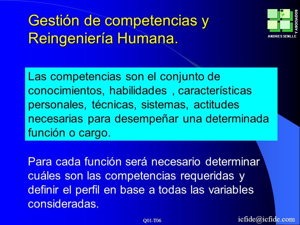 Gestión de competencias y Reingeniería Humana.
