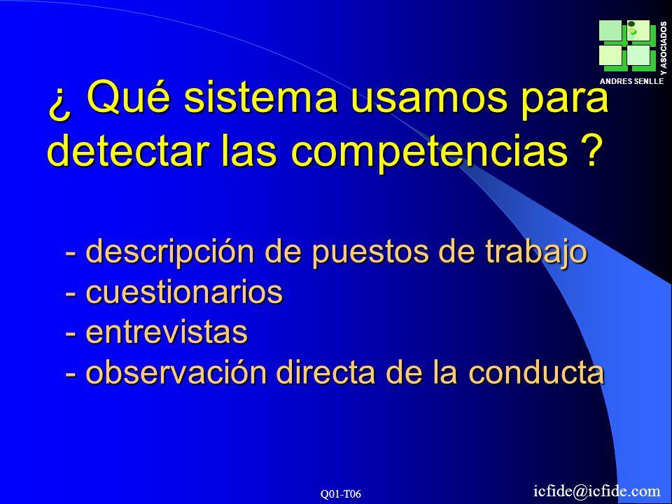 ¿ Qué sistema usamos para detectar las competencias