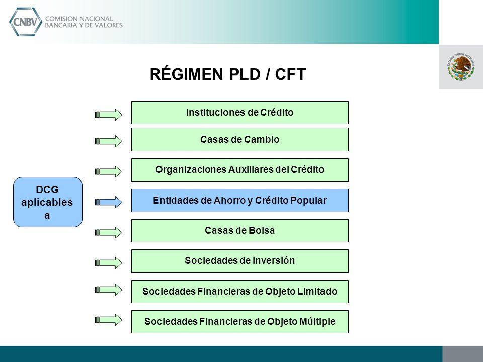 RÉGIMEN PLD / CFT DCG aplicables a Instituciones de Crédito