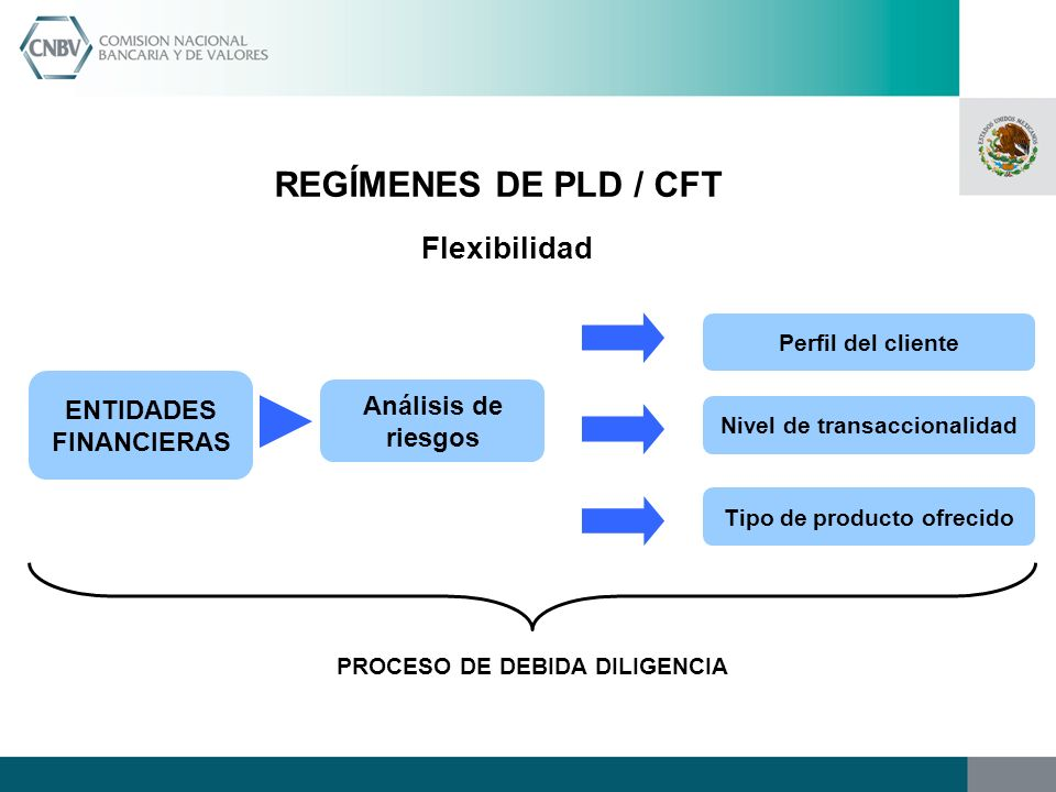 REGÍMENES DE PLD / CFT Flexibilidad ENTIDADES FINANCIERAS
