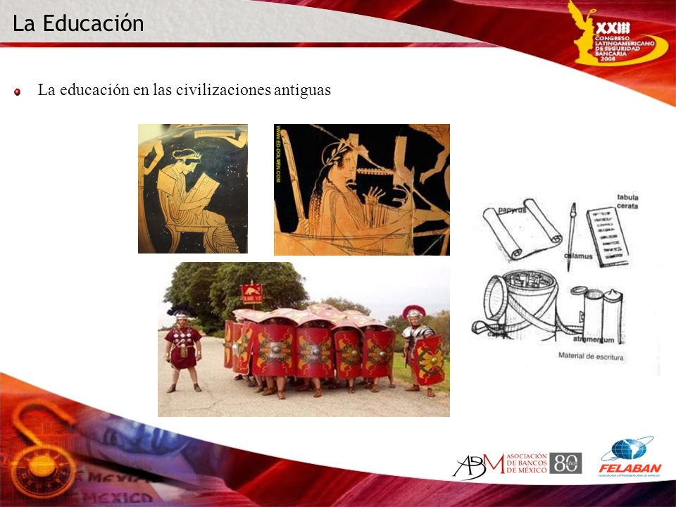 La Educación La educación en las civilizaciones antiguas