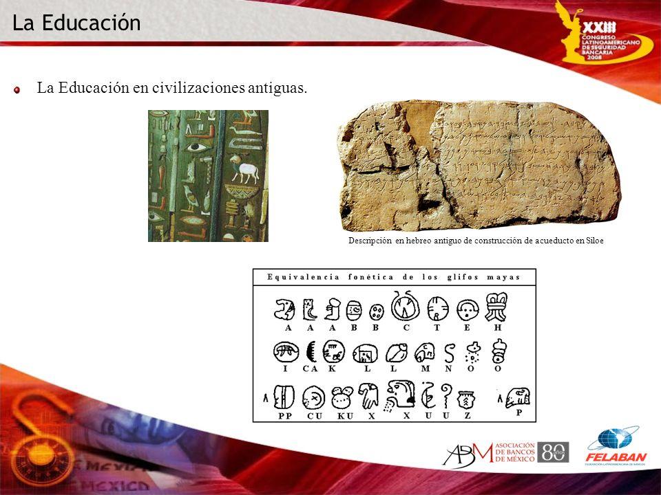 La Educación La Educación en civilizaciones antiguas.