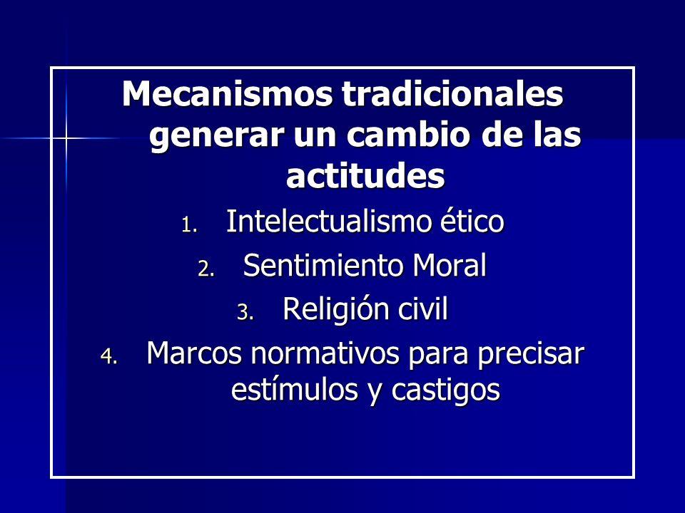 Mecanismos tradicionales generar un cambio de las actitudes