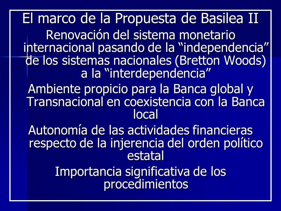 El marco de la Propuesta de Basilea II