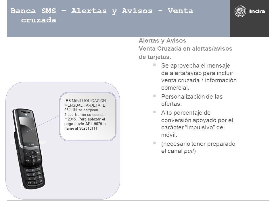 Banca SMS – Alertas y Avisos - Venta cruzada
