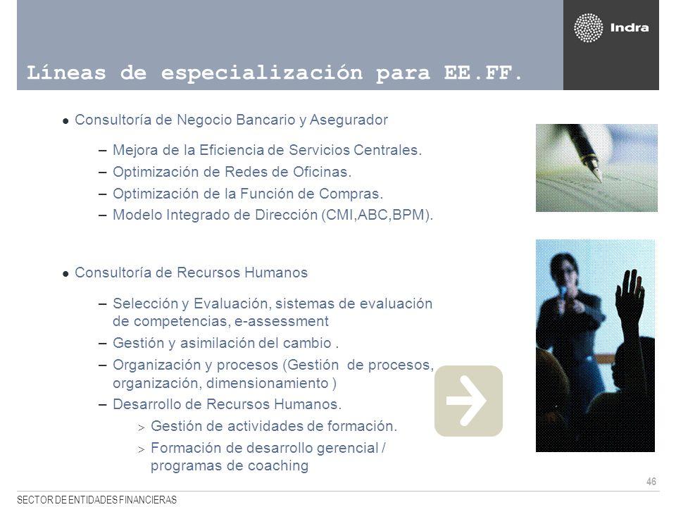 Líneas de especialización para EE.FF.