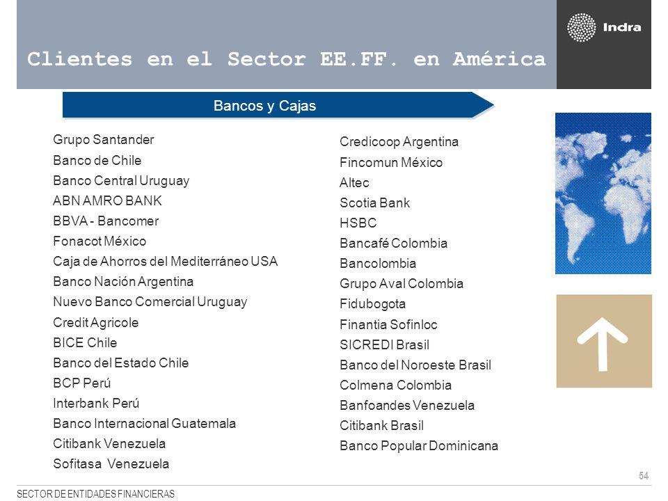 Clientes en el Sector EE.FF. en América