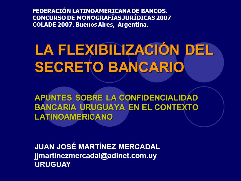 FEDERACIÓN LATINOAMERICANA DE BANCOS.