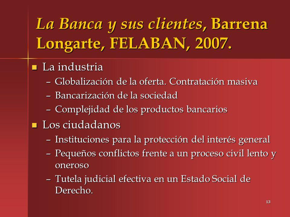 La Banca y sus clientes, Barrena Longarte, FELABAN, 2007.