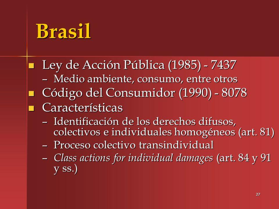 Brasil Ley de Acción Pública (1985) - 7437