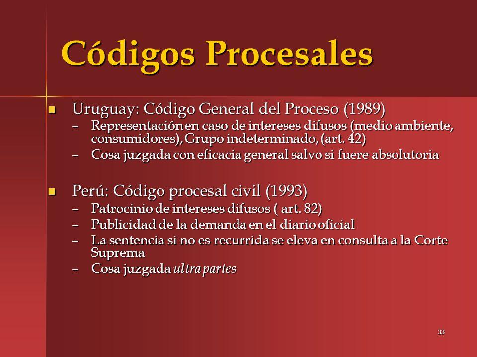 Códigos Procesales Uruguay: Código General del Proceso (1989)