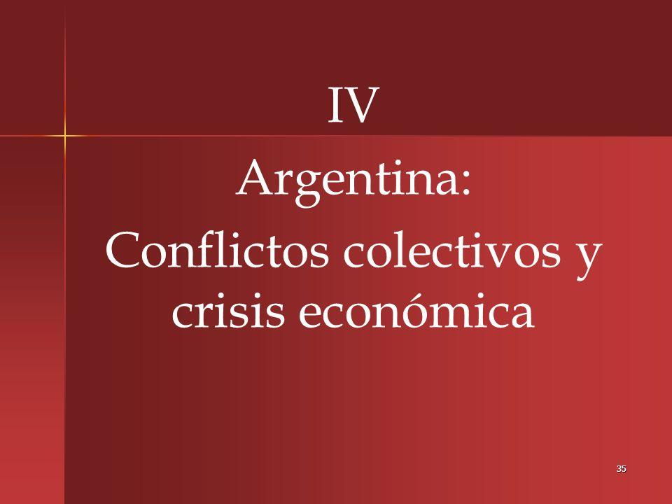 Conflictos colectivos y crisis económica