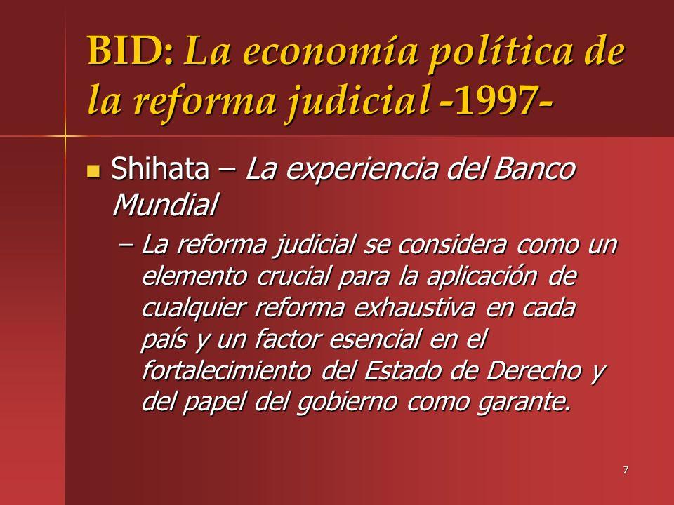 BID: La economía política de la reforma judicial -1997-
