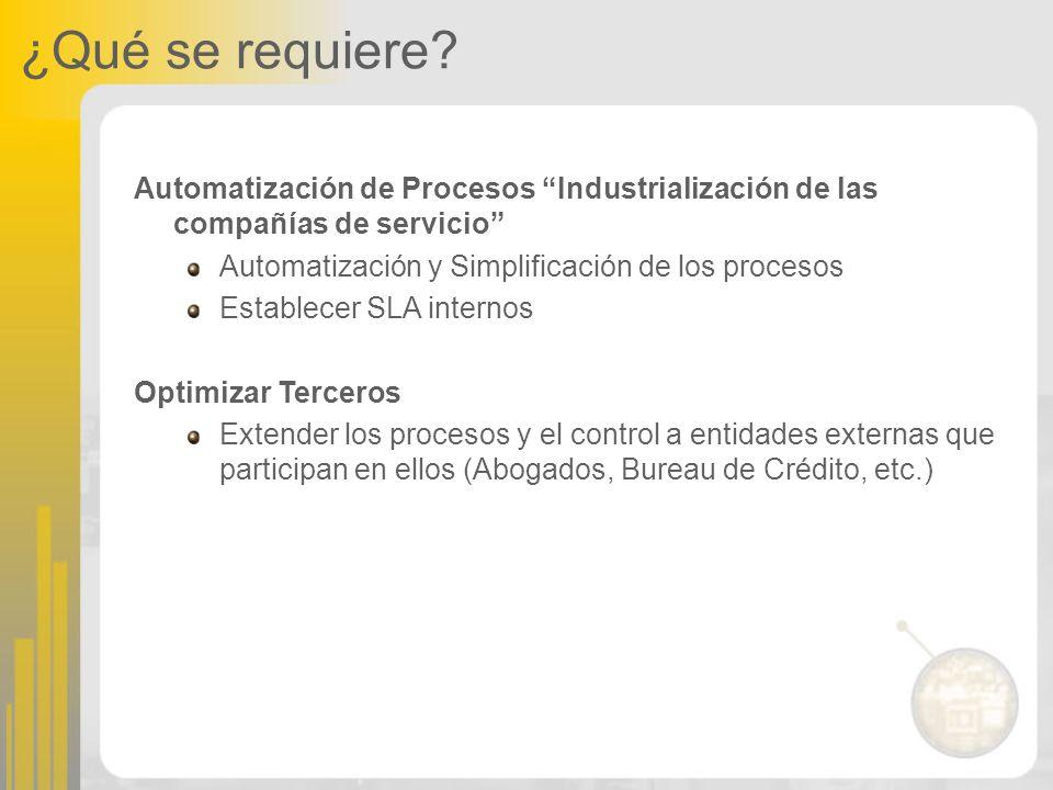 ¿Qué se requiere Automatización de Procesos Industrialización de las compañías de servicio Automatización y Simplificación de los procesos.