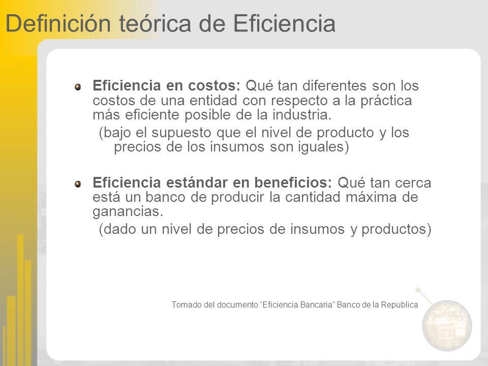 Definición teórica de Eficiencia