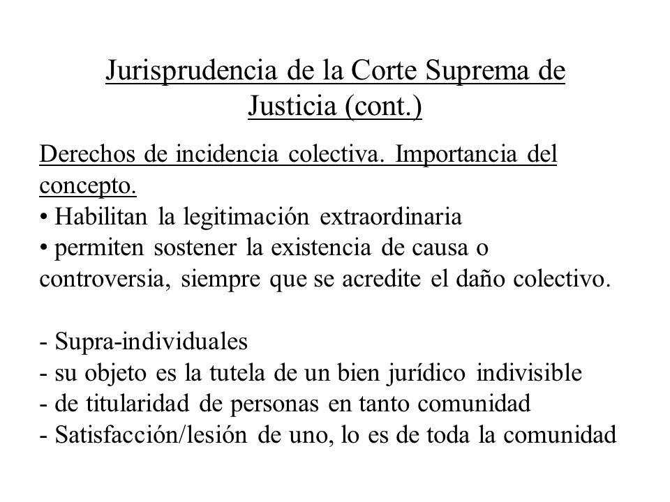 Jurisprudencia de la Corte Suprema de Justicia (cont.)