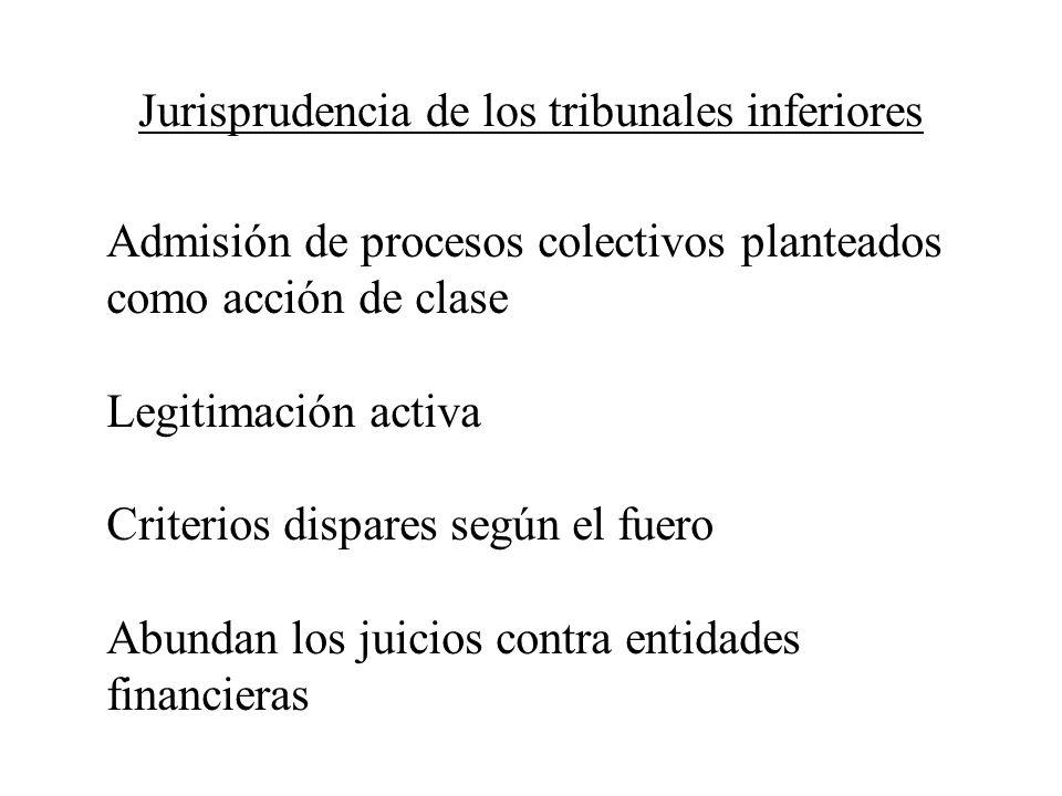 Jurisprudencia de los tribunales inferiores