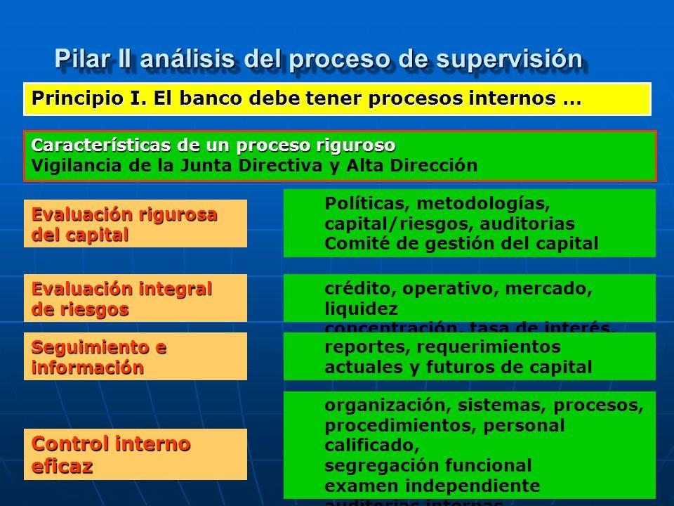 Pilar II análisis del proceso de supervisión