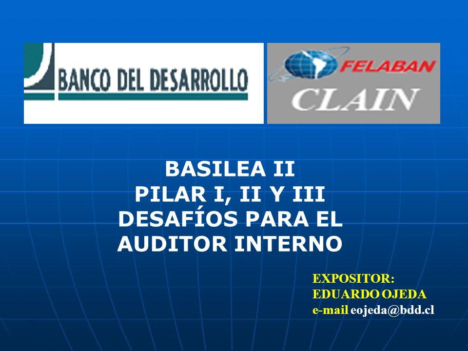 BASILEA II PILAR I, II Y III DESAFÍOS PARA EL AUDITOR INTERNO