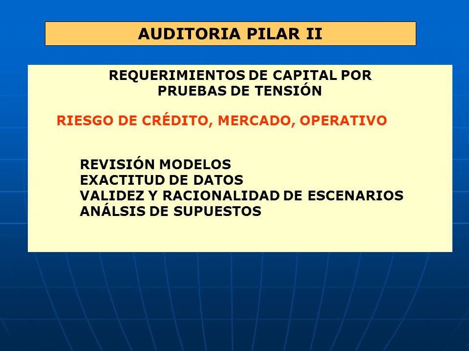 REQUERIMIENTOS DE CAPITAL POR